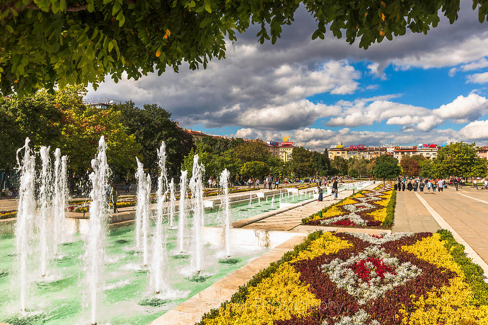 Цветни градини на НДК