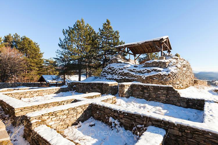 Крепост Цепина през зимата