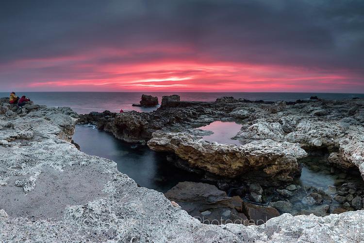 Скално крайбрежие между Шабла и Тюленово по изгрев