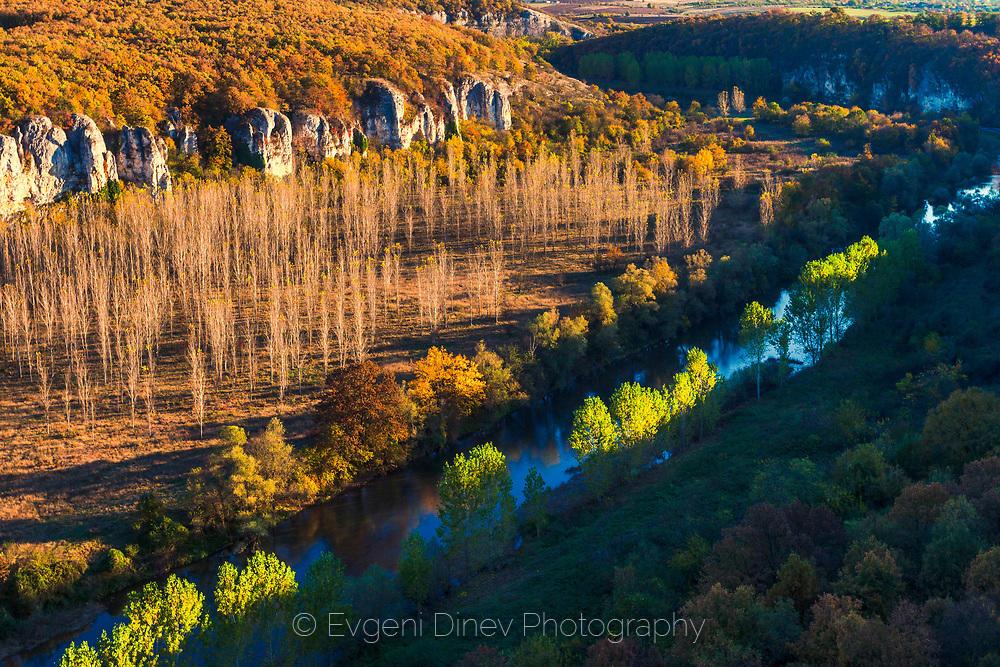 Река Вит през есента