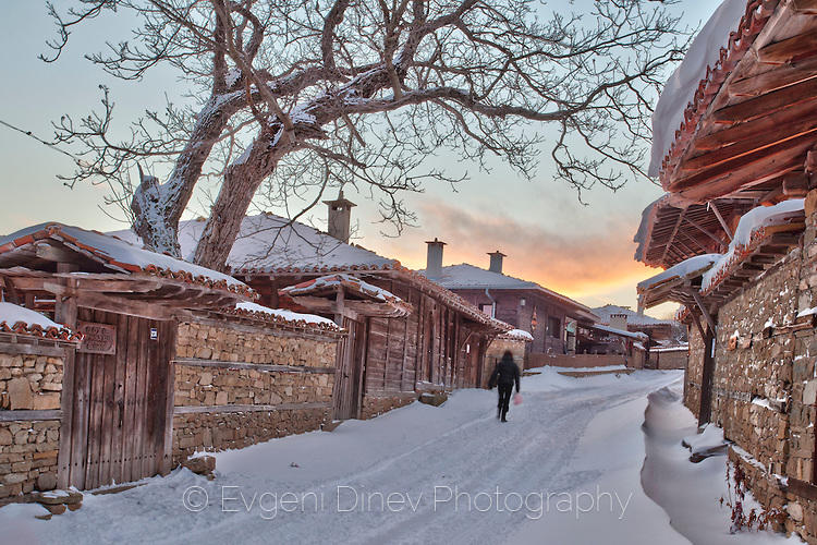 Зимен залез в Жеравна